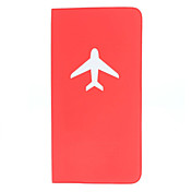 Lange Typ Einfache Flugzeug Pattern Passport Case for Travel (Random Color)