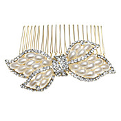 Bowknot Alloy With Imitation Pearl / Rhinestone Women's Hair Combs