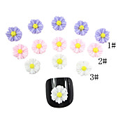 20PCS 3D Resin Finger Nail Decorations Sunflower-Shaped (Assorted Color)