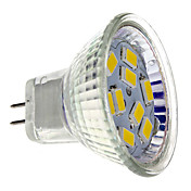 MR11 4W 9x5730SMD 400-430LM 2700-3000K Warm White Light LED Spot Bulb (12V)