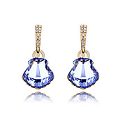 Unique 18K Gold Plated High Quality Alloy and Crystal Earring(More Colors)