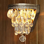 60W Artistic Crystal Beaded Wall Light with Elegant Metal Light Base