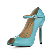 Gorgeous Leatherette Stiletto Heel Pumps / Peep Toe With Buckle Party / Evening Shoes