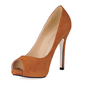 Gorgeous Suede stilethæl hæl Pumper / Peep Toe Party / Evening Sko (Flere farver)