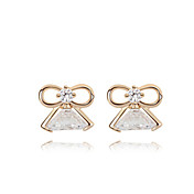 Fashion Square 18K Gold Plated CZ Cubic Zirconia Earring(More Colors)
