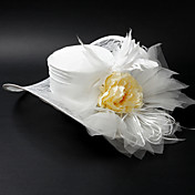 Fashion Satin / Alloy Mit Flower / Feather Wedding / Partying / Flitterwochen Hat
