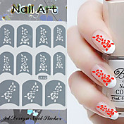 3PCS Mixed-style Paper Nail Art Image Stamp Stickers LK Series No.20