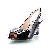 Patent Leather Chunky Heel Sandals With Bowknot Party / Evening Shoes (More Colors)