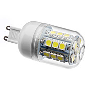 G9 27x5050 SMD 3.5W 300LM 5500-6500K Natural White Light LED Corn Bulb (230V)