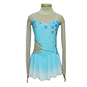 Dumb Light Spandex Elasticated Net Silk Flowers Transitional Colors Sling Figure Skating Clothing
