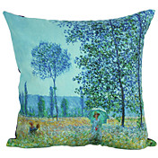 Country Blue Forest Suede Decorative Pillow Cover