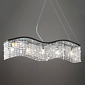 Contemporary Chandelier with 5 Lights in Crystal Tassels