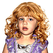 Capless Top Grade Synthetic Long Wavy Blonde Children's Wigs