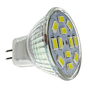 MR11 6W 12x5730SMD 550-570lm 6000-6500K Natural White Light LED Spot-Lampe (12V)