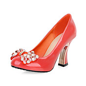 Cuero de tacn grueso con bowknot Fiesta / noche zapatos (ms colores)