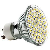 GU10 3.5W 60x3528SMD 250-350LM 2800-3200K Warm White Light LED Spot Bulb (220-240V)
