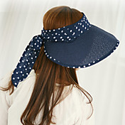Frauen Sommer Topless UV Super Big Brim Süße Dot Flatcap