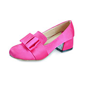 Chic Silk Chunky Heel Round Toe With Bowknot Party / Evening Shoes (More Colors)