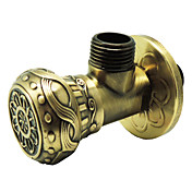 "Antique Brass Angle Valve(1/2"" x 1/2"")"