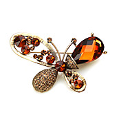 Unique Butterfly Alloy With Rhinestones Brooch (More Colors)