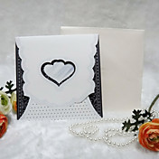Pretty Heart Cut-out Wedding Invitation (Set of 50)