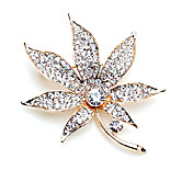 Flower Alloy With Rhinestones Brooch (More Colors)