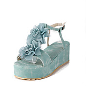 Leatherette Platform Heel Sandals With Flower Party / Evening Shoes (More Colors)