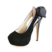 Chic Suede stilett häl pumpar med Party / Evening Satin Flower Shoes (Fler färger)