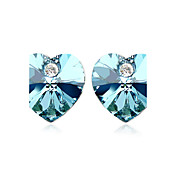 Fashion Heart Cut Crystal Stud Earrings(More Colors)