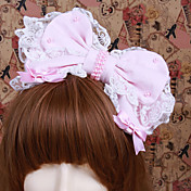 Handmade Pink Cotton Bow Sweet Lolita Headband