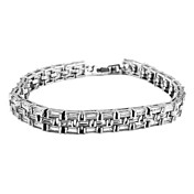 Platinum Plated With Cubic Zirconia Women's Bracelet