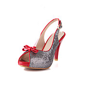 Leatherette Stiletto Heel Peep Toe / Sandals With Sequin Party / Evening Shoes (More Colors)