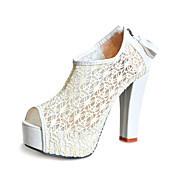 Lace Chunky Heel Peep Toe With Zipper Party / Evening Shoes (More Colors)