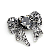 Gorgeous Alloy With Rhinestones Brooch