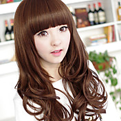 Zipper Light Brown 70cm Casual Lolita Wave Wig