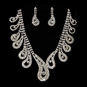 Gorgeous Rhinestones Wedding Bridal Necklace, Earrings Jewelry Set