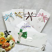 Pretty Wedding Invitation With Ribbon Bowknot - Set of 50 (More Colors)
