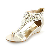 Leatherette Wedges Sandals With Imitation Pearl Party / Evening / Casual Shoes (More Colors)