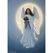 Printed Art Fantasy Moon Angel by Richard Burns