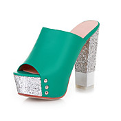 Leatherette Chunky Heel Sandals / Peep Toe Party / Evening Shoes (More Colors)