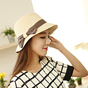 Das Frauen Sommer-Layered Bow Short Brim Sunhat