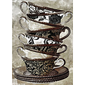 Printed Art Still Life Afternoon Tea I by Color Bakery