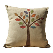 Tree Pattern Print Decorative Pillow Cover
