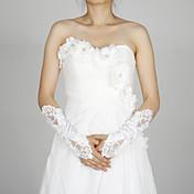 Satin Fingerless Wedding Bridal Elbow Length Gloves