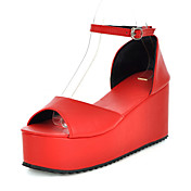 Leatherette Platform Sandals With Buckle Casual / Party / Evening Shoes (More Colors)