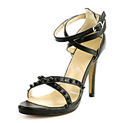 Fashion Leather Stiletto Heel Sandals With Rivet Party / Evening Shoes(More Colors)