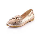 Stylish Leatherette Flat Heel Loafers & Slip-Ons With Bowknot Party / Evening / Honeymoon Shoes