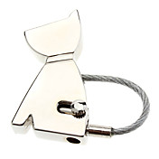 Cute Dog Shape Stainless Steel Keychain