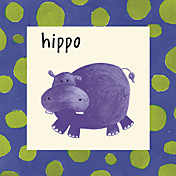 Printed Art Animal Hippo by Esteban Studio