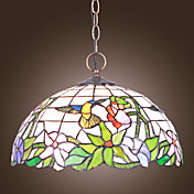 Tiffany 2 - Light Pendelleuchten mit Hummingbird-Muster